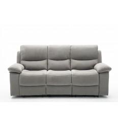KEATON-Set canapés 3 et 2 places relax électrique tissu gris