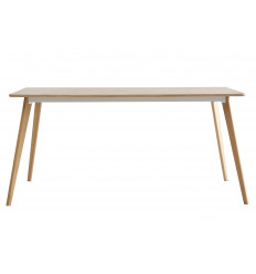 NINA-Table repas plateaudécor chêne pied chêne
