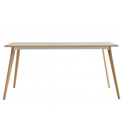 NINA Table repas fixe 160 x 90 cm chêne.