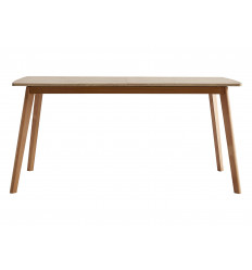 NINA Table repas allonge 160-200 x 90 cm décor chêne
