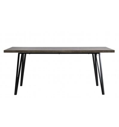 BETTY Table repas 180 x 100 cm décor chêne gris