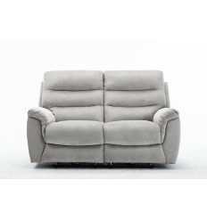 Canapé relax 2 places tissu gris ARONA