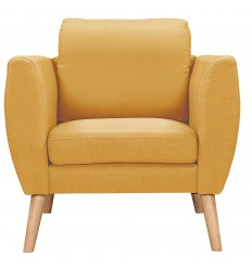 FAUTEUIL SOLVEIG TISSU CURRY