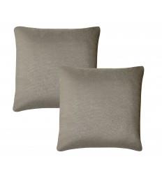 Lot de 2 coussins tissu gris ELI