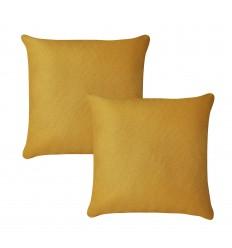 Lot de 2 coussins tissu curry ELI