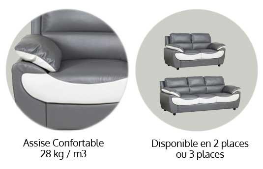 luxy canapé simili design